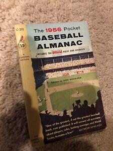 VTG 1956 Schiffer's The Baseball Almanac Magazine Official Rules and Averages