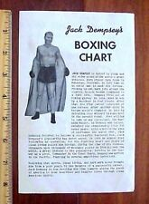 VINTAGE JACK DEMPSEY EVERLAST BOXING GLOVES ADVERTISING CHART PAMPHLET