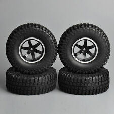 "4PCS 1.9"" Rubber Rock Crawler Tires & Wheel 12mm Hex Set For RC 1/10 Car Truck"