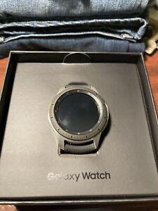 Samsung Galaxy Watch SM-R805U 46mm Silver Case Classic Buckle Onyx Black -...