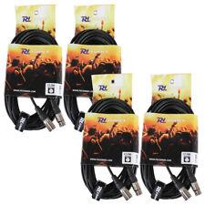 4x PD Connex Female XLR To Male XLR DMX Lighting Cables 12m Essex