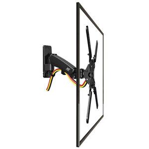 NEW F400-Full-Motion Gas-strut Bracket Flexible Wall Mount for LED/LCD TVs Black