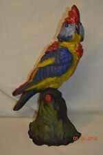 Albany Foundry Cast Iron Polychrome Cockatoo Doorstop Door Stop