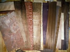 Lot of 22 Large Size Veneer Raw Sheets Various Exotic Figured Wood NOS