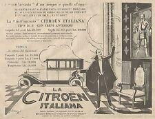 W1100 Citroen Italiana Tipo 10 B con freni anteriori - Pubblicità 1926 - Advert.