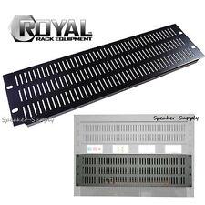 Royal Racks 3U Rack Equipment Mountable Vent Plate Panel Blank AV Rack ROY1225