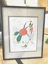 1993 Brian Andreas Story People Balloon Man print 14 x 11 framed vintage