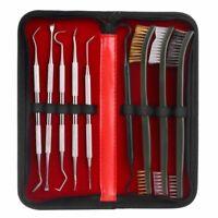 Gun Cleaning Kit Brass Steel Nylon Brush Tactical Rifle Pistol Cleaning Tool Set