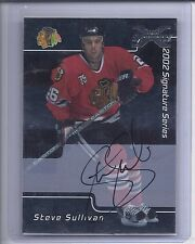2002-03 BE A PLAYER SIGNATURE SERIES STEVE SULLIVAN 01-02 BUYBACK AUTOGRAPH 83