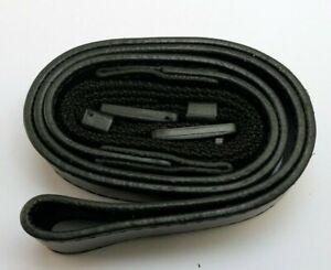 Leather Shoulder Strap 2cm wide Neck camera Black color Panasonic