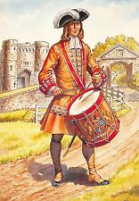 Postcard Drummer Earl of Donegall's Regiment of Foot Belfast Regiment 1702 #32-1