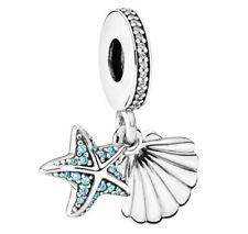 New Pandora Genuine Pendant Charm Dangle TROPICAL STARFISH & SEA SHELL 792076CZF