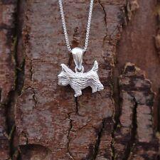 "Sterling Silver 925 Scottie Dog Pendant 18"" Chain Necklace Pure Origins Sea Gems"