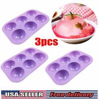 3PCS Half Ball Hemisphere Silicone Cake Mold Baking Mould DIY Chocolate Tray