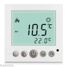 LCD Digital Thermostat Raumthermostat weiss programmierbar Fußbodenheizung 16A