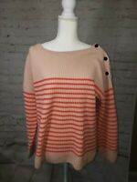 NEW Ann Taylor Women's Size XL Pullover Sweater Coral Wool Cashmere FAST SHIP