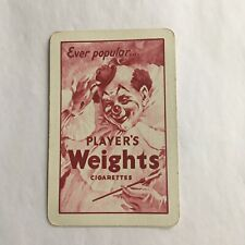 Vintage Playing Card Players Weights Cigarettes Advertising Single Swap Collect