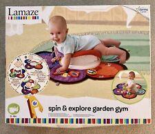 LAMAZE Spin & Explore Garden Gym Baby Boy Girl Unisex Play Mat Tummy Time