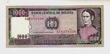 Bolivia  1000 1.000  bolivianos 1982  FDS  UNC          pick  167  Lotto 731