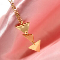 Fashion Chain Jewelry Women Long Gold Triangle Chain Choker Sweater Necklace