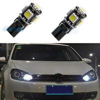 LED Parking Side Light Bulbs White W5W 501 For VW Passat B6 B7 3C 1.9 2.0 TDI