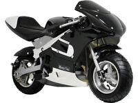 MotoTec Gas Pocket Bike Mini Air Cooled Motorcycle Ages 13+ Black