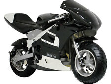 MotoTec Gas Pocket Bike Mini Air Cooled Motorcycle Ages 13+ Black