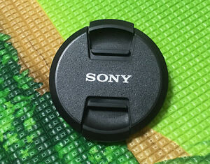 NEW Design Sony Center Pinch Snap on Lens Cap Cover 62mm for Sony SLR Camera