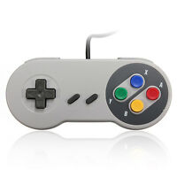 Classic Super Nintendo USB Famicom Color SNES SF Controller for Windows PC/MAC