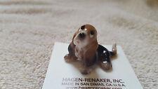 Hagen Renaker Dog Basset Pup Sitting Figurine Miniature New Free Shipping 03190
