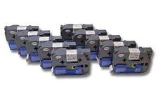 10x Cassette de cinta para Brother TZ-241, TZE-241