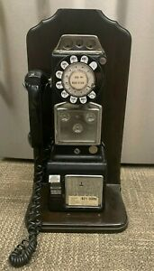 Vintage Black Western Electric Rotary Dial Payphone Telephone Phone Booth Phone