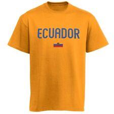 Ecuador Country Flag Yellow T-Shirt - Size Large