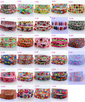 36designs DIY 2/10yards 7/8''(22mm) Grosgrain Ribbon Printed Candy Cake HairBows
