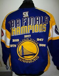 GOLDEN STATE WARRIORS Ultimate 5 Time NBA FINALS Cotton Jacket  4X 5X