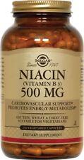 Solgar Niacin (Vitamin B3) 500 mg 250 Vegetable Capsules