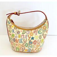 Dooney & Bourke Scribble Crayon Design Bag Purse Bucket Bag Colorful