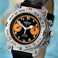 POLJOT 3133 Fliegerchronograph russische mechanische Uhr Aviator Fliegeruhr
