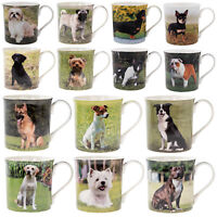 Leonardo Dog Breeds Fine China Coffee Mugs Tea Cup Puppy Pets Animals Gift Boxed