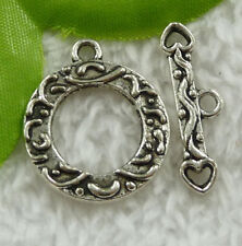 Free ship 40 sets tibet silver nice clasps 26x2mm 28x8mm B2416