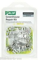 Greenhouse Repair Kit - spring wire W & lap window clips square & cropped bolts