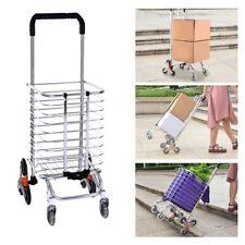 Folding Shopping Cart Jumbo Basket Grocery Laundry Travel With Swivel Wheels