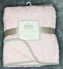 The CoCaLo Collection Quilted Comforter, Pink with Grey Trim, 114cm x 91cm BNIP