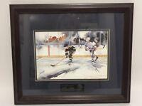 Break Away Art Print by D.P. Cooper Print 1976-1996 Portland Winter Hawks Hockey