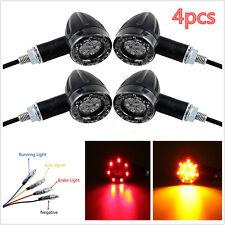 4x Universal Motorcycle LED Turn Signal Indicators light Brake Rear Running Lamp