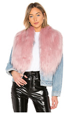 CHARLOTTE SIMONE FLOSSY Baby Pink Faux Fur Fluffy Scarf *NEW WITH TAG*