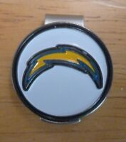 """Los Angeles Chargers LA NFL 1"""" Golf Ball Marker 2 sided with Hat Clip"""