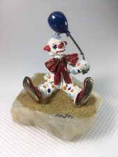 Ron Lee Vintage 1984 Clown Figurine With Balloon Signed Ron 84 Vg Condition