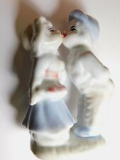 Vintage Chinese Porcelain Figurine Hand Painted Kissing Couple Made in China