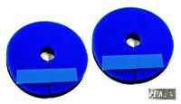 Bit Guards Soft Neoprene w/Back Closure Strip Blue by Partrade New Free Ship